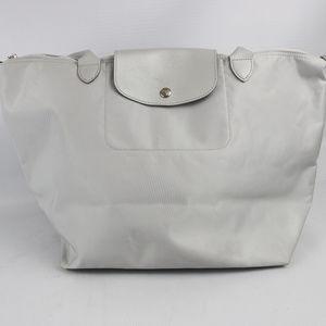 "Longchamp 'Large Le Pilage"" Tote Silver"